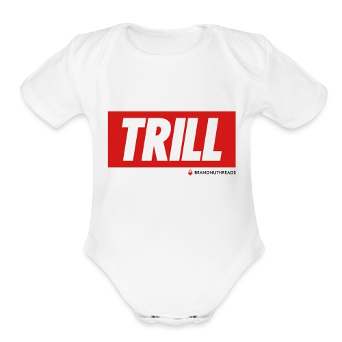 trill red iphone - Organic Short Sleeve Baby Bodysuit