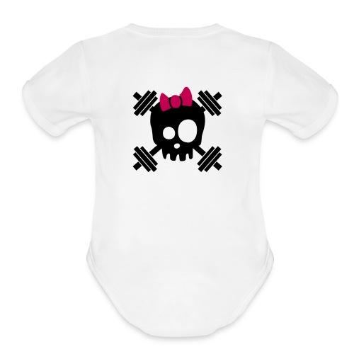 girl logo good - Organic Short Sleeve Baby Bodysuit