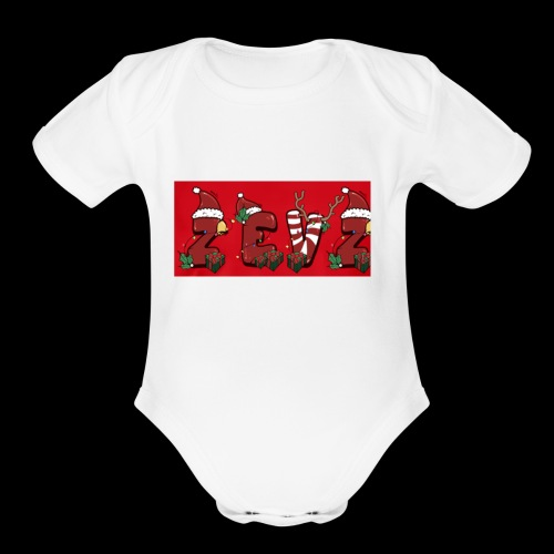 zevz chris mas merch - Organic Short Sleeve Baby Bodysuit