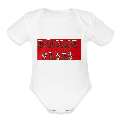 gaming vlogs chrismas merck - Organic Short Sleeve Baby Bodysuit