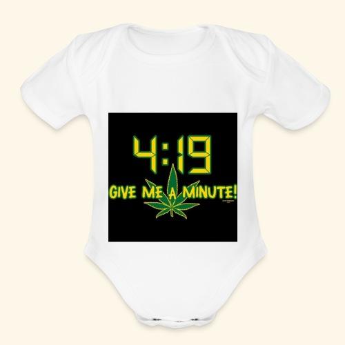 What time - Organic Short Sleeve Baby Bodysuit