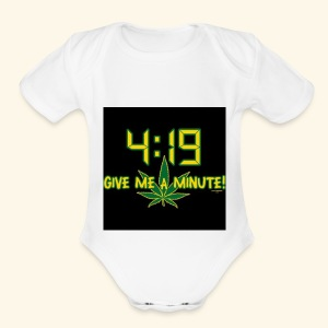 What time - Short Sleeve Baby Bodysuit