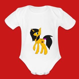 Untitled6 - Short Sleeve Baby Bodysuit