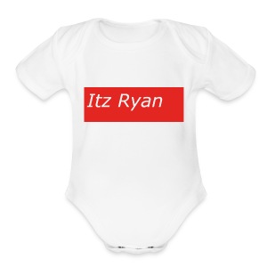 Supreme Themed Itz Ryan Clothing - Short Sleeve Baby Bodysuit