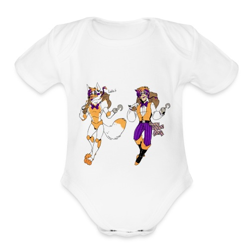 lolbit by blasticheart d9pao30 - Organic Short Sleeve Baby Bodysuit