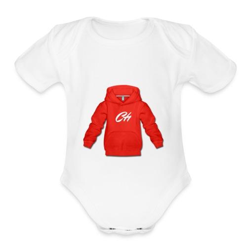 CH - Organic Short Sleeve Baby Bodysuit