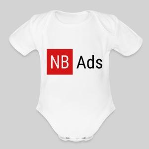 Nothing But Ads Logo - Short Sleeve Baby Bodysuit