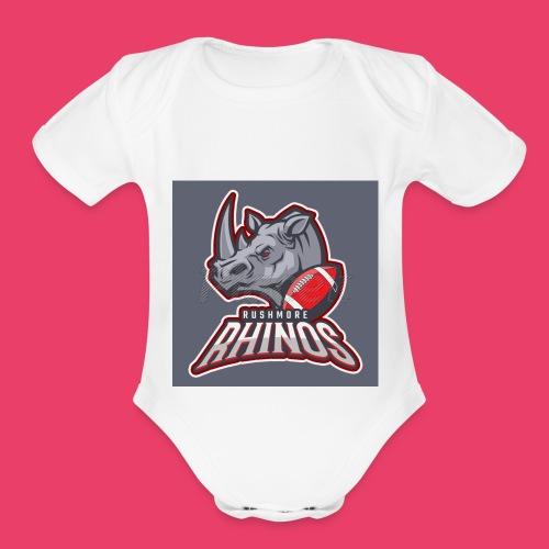 Long horn - Organic Short Sleeve Baby Bodysuit