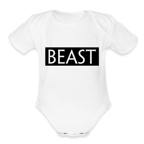 BEAST 100 - Organic Short Sleeve Baby Bodysuit