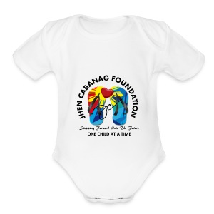 JHEN CABANAG FOUNDATION INTERNATIONAL Logo - Short Sleeve Baby Bodysuit