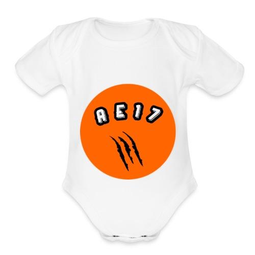 "AE 17 ""La Panterita"" Gear - Organic Short Sleeve Baby Bodysuit"