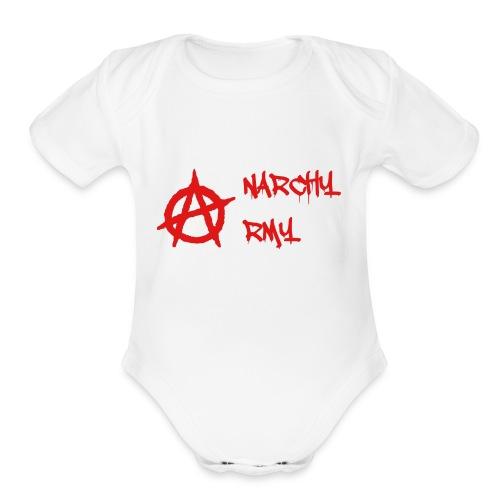 Anarchy Army LOGO - Organic Short Sleeve Baby Bodysuit