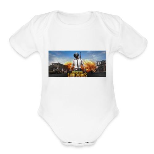 pubg 1 - Organic Short Sleeve Baby Bodysuit