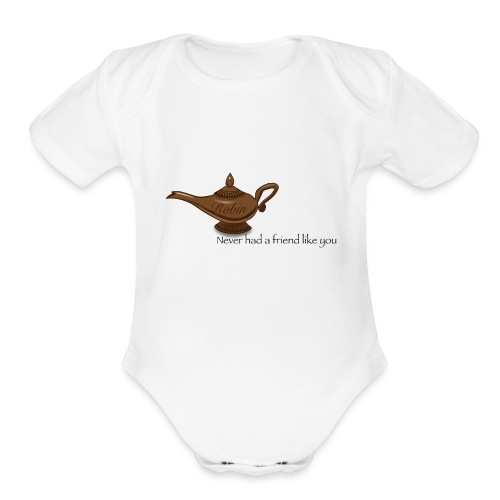 Never had a friend like you - Organic Short Sleeve Baby Bodysuit