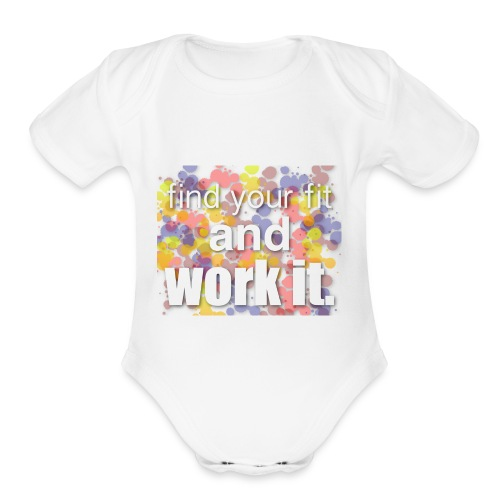 color - Organic Short Sleeve Baby Bodysuit