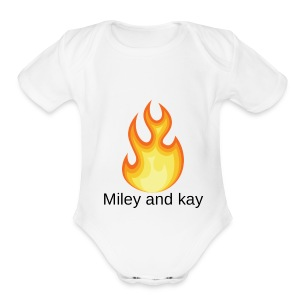 Miley and kay lit - Short Sleeve Baby Bodysuit