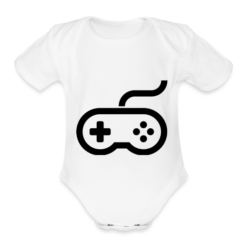 Old School Gaming Controller - Organic Short Sleeve Baby Bodysuit