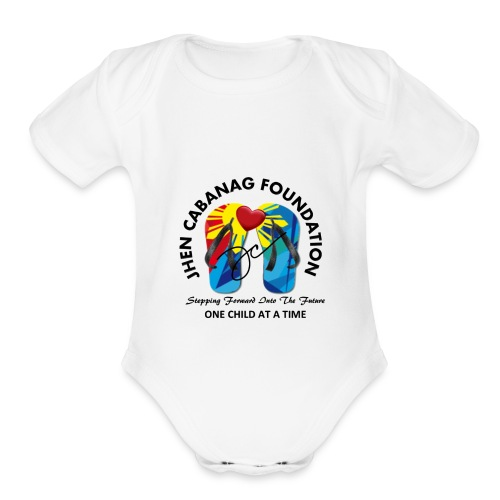 JHEN CABANAG FOUNDATION INTERNATIONAL Logo - Organic Short Sleeve Baby Bodysuit
