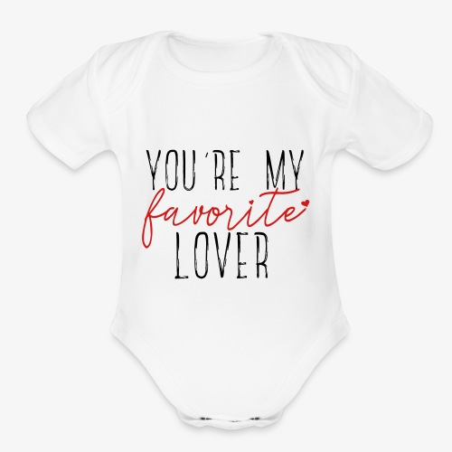 Favorite Lover - Organic Short Sleeve Baby Bodysuit