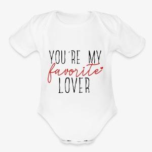 Favorite Lover - Short Sleeve Baby Bodysuit