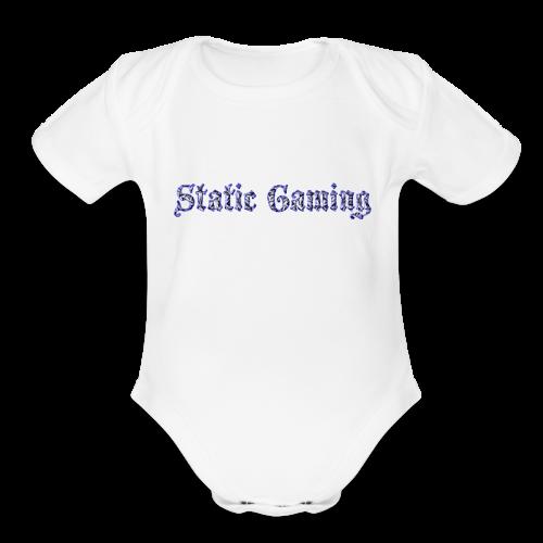 Diamond Static Gaming - Organic Short Sleeve Baby Bodysuit