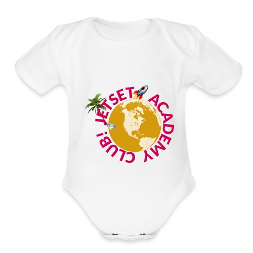 JAC Swag Pink Brand - Organic Short Sleeve Baby Bodysuit
