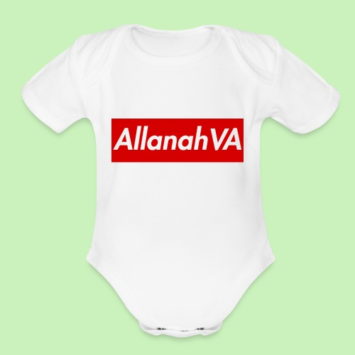 AllanahVA Supreme Red - Organic Short Sleeve Baby Bodysuit