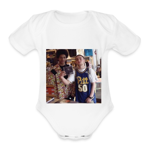 Mac & Tree J - Organic Short Sleeve Baby Bodysuit