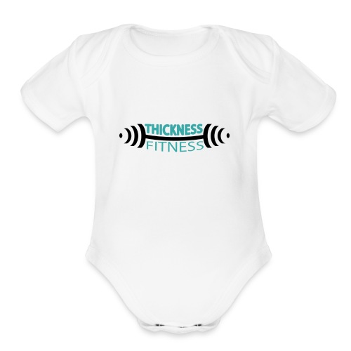 TF Teal and Black - Organic Short Sleeve Baby Bodysuit