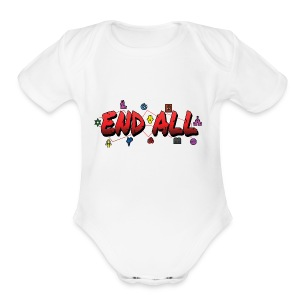 END ALL - Short Sleeve Baby Bodysuit