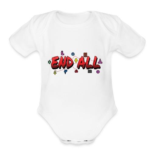 END ALL - Organic Short Sleeve Baby Bodysuit
