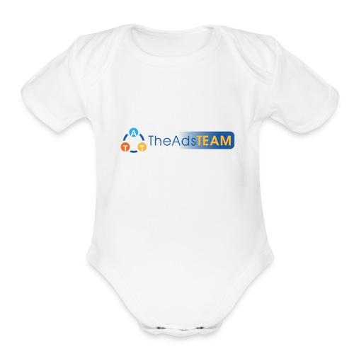 TheAdsTeam Logo - Organic Short Sleeve Baby Bodysuit