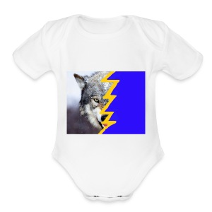 wolf 2 - Short Sleeve Baby Bodysuit