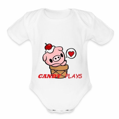 Candy Plays - Organic Short Sleeve Baby Bodysuit