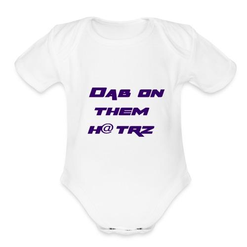 dab - Organic Short Sleeve Baby Bodysuit