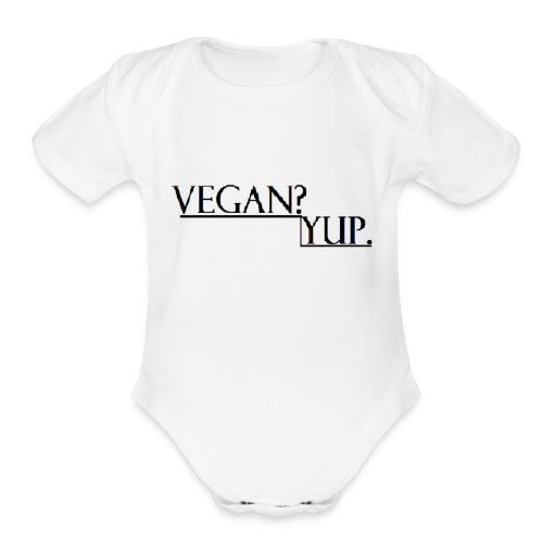 how - Organic Short Sleeve Baby Bodysuit