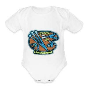 Color Create for Contentment logo - Short Sleeve Baby Bodysuit