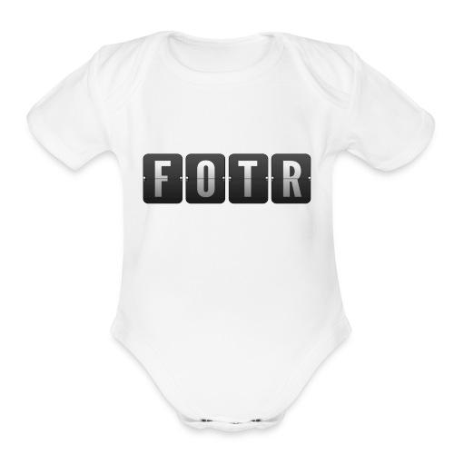 FOTRflipclock - Organic Short Sleeve Baby Bodysuit