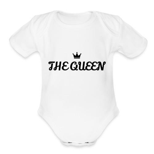 THE QUEEN SHIRT - Organic Short Sleeve Baby Bodysuit