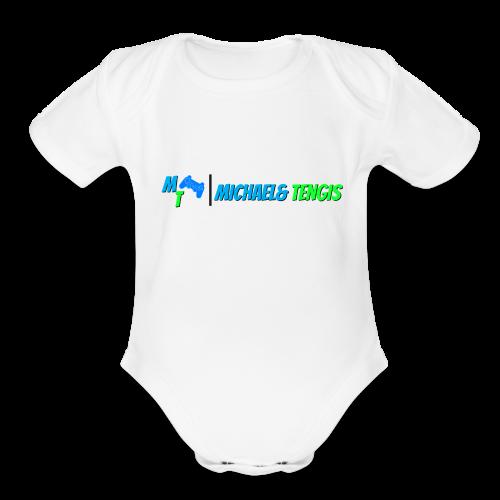 Michael and Tengis - Organic Short Sleeve Baby Bodysuit