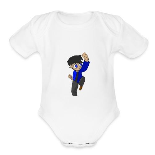 WHITE SKYKIDD18 T-SHIRT ORIGINAL DESIGN - Organic Short Sleeve Baby Bodysuit