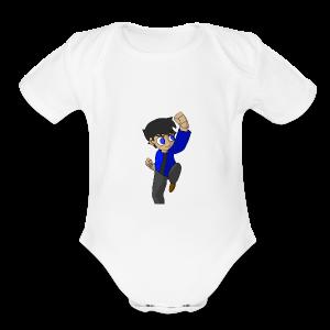 WHITE SKYKIDD18 T-SHIRT ORIGINAL DESIGN - Short Sleeve Baby Bodysuit