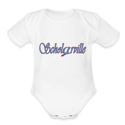 Welcome To Scholarville - Organic Short Sleeve Baby Bodysuit