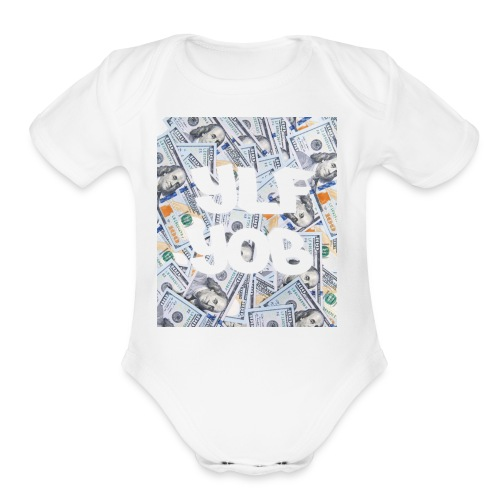 Ylf Yob Money Box - Organic Short Sleeve Baby Bodysuit