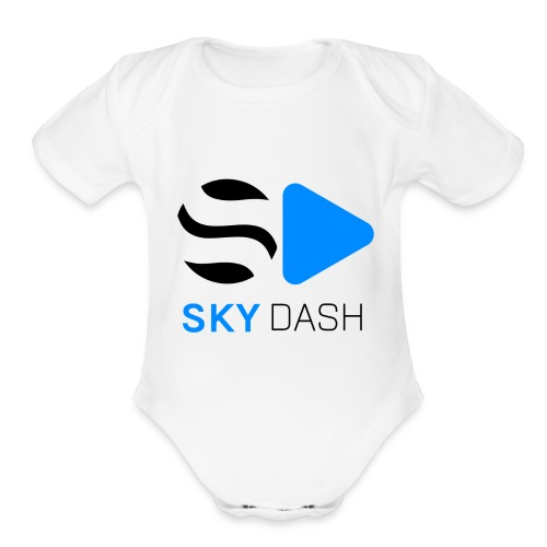 Sky Dash LOGO - Organic Short Sleeve Baby Bodysuit