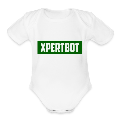XpertBot - Organic Short Sleeve Baby Bodysuit