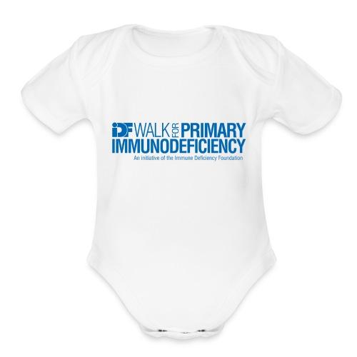 IDF Walk for PI - Blue - Organic Short Sleeve Baby Bodysuit