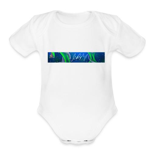 jay - Organic Short Sleeve Baby Bodysuit