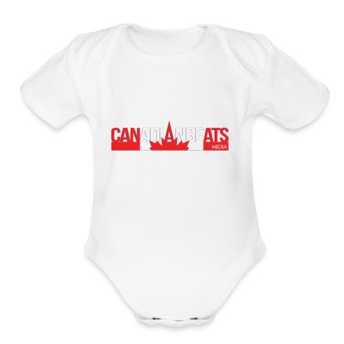 Canadian Beats Logo - Organic Short Sleeve Baby Bodysuit