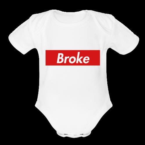 supreme broke - Organic Short Sleeve Baby Bodysuit